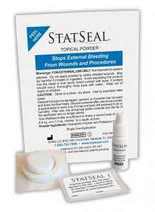 Photo of StatSeal Powder packaging